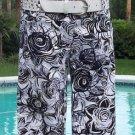 Cache GEOMETRIC FLORAL METALLIC KISSED WALKING BERMUDA Short Pant NWT XS/S/M/L