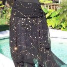 Cache $168  100% SILK SEQUINS Skirt NWT 6/8/10 S/M PEEK-A-BOO FLIRTY BOTTOM