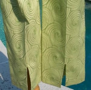 Cambio $240 MARY Psychedelic Pant NWT 4/6 S CLASSIC EMBROIDERY LIGHT GREEN