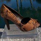 Donald Pliner $400 COUTURE PYTHON LEATHER Shoe Pump NIB PEEP-TOE PLATFORM 6 10