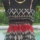Cache $118 GATHERED EMPIRE BOHO SUN DRESS ADJUSTABLE STRAP NWT XS/S/M/L STRETCH