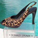 Donald Pliner $395 COUTURE GATOR LEATHER HAIR CALF Shoe NIB PEEP-TOE~PLATFORM