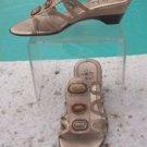 Life Stride $$$ EMBELLISHED Shoe Sandal  Sz 8  URBAN  Wedge Strappy METALLIC NIB