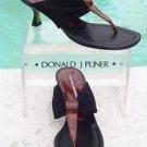 Donald Pliner $200 COUTURE LEATHER Shoe Sandal NIB MESH ELASTIC TORTOISE PATENT