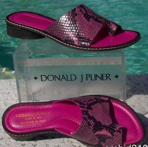 Donald Pliner $275 COUTURE PYTHON  LEATHER Shoe NIB 6.5 TOE RING SANDAL FLAT