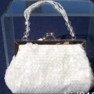 Cache  $58 SEQUIN  BEADED CRYSTAL STRAPS  PURSE Top NWT METAL FRAME EVENT