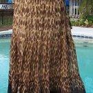 Cache $138 SILK ANIMAL EVENING DAY Skirt BOHO HIPPIE NWT 2/4/6/8 XS/S/M