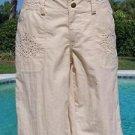 Cache $88 EYELET WALKING BERMUDA Short Pant NWT CITY SHORT STRETCH 2/4/6/8/10