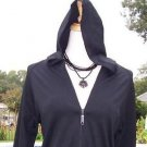 CHICO'S Chicos 0/1 $98 MICROFIBER HOODIE Top NWT XS/S/M WEAR ALL YEAR STRETCH