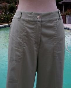 Women's Tommy Bahama Size 10 NEW COTTON SPANDEX CROP Pant STRETCH LIGHT GREEN