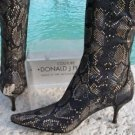 Donald Pliner $425 SNAKE PRINT SUEDE LEATHER ENERGY MICROFIBER Boot Shoe NIB NEW