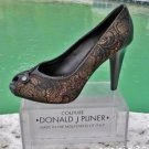 Donald Pliner $325 COUTURE BROCADE LEATHER Shoe Pump NIB PEEP-TOE PLATFORM 8