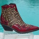 Donald Pliner $675 WESTERN COUTURE KOGI GATOR LEATHER BOOT Shoe NIB HAIRCALF 5.5