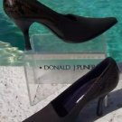 Donald Pliner COUTURE $255 SILK ELASTIC Pump Shoe NIB 10 Snake Pitone Leather