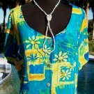 BIG HED Designs NEW $$$ XS/S/M DRESS RAYON FUN TROPICAL VACATION JAMS WORLD