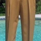 Ellen Tracy Linda Allard $195 Camel Color 100% Rayon Dress Pant NEW 4/6 S