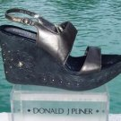 Donald Pliner $275 COUTURE METALLIC LEATHER WEDGE Shoe NIB SUEDE EMBROIDERY 9 10
