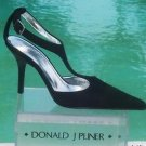Donald Pliner $350 COUTURE SUEDE LEATHER Pump Shoe NIB T-STRAP CLASSIC SIGNATURE