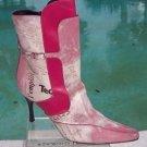 Donald Pliner $650 COUTURE BABY CALF LEATHER Boot Shoe NIB HAIR CALF FUCHSIA NEW