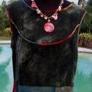 PLATINUM Dorothy Schoelen Cache $$$ Top NEW S/M MULTI COLOR TRIBAL FEELS LINEN