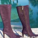 Donald Pliner $495 COUTURE SUEDE LEATHER Boot Shoe NIB FULL SIDE ZIPPER NEW