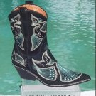 Donald Pliner $625 WESTERN COUTURE BLACK SUEDE PEACE BOOT Shoe NIB INTRICATE NEW