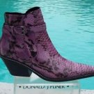 Donald Pliner $525 WESTERN COUTURE VINO PYTHON PATENT LEATHER BOOT Shoe NIB NEW
