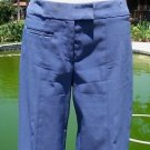 Cache $128 FLAT FRONT ZIPPER STRETCH SELF BELT Pant NEW 2/4/6 XS/S PERIWINKLE