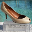 Donald Pliner $265 COUTURE PATENT LEATHER Shoe NIB PEEP-TOE PUMP FLEX SOLE 10