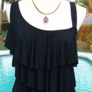 Cache $98 STRETCH OFF 1 SHOULDER RUCHED Top NWT LAYERED TIERED DESIGN