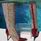 Donald Pliner $795 COUTURE PEACE TOMATO GATOR Boot Shoe NIB CHITA HAIR CALF 6