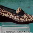 Donald Pliner $250 COUTURE CONGO HAIR CALF LEATHER LOAFER WEDGE Shoe NIB 11