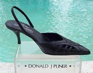 Donald Pliner $265 COUTURE  COBRA LEATHER Shoe NIB 6.5 POINTY TOE SLING BACK