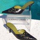 Donald Pliner $240 COUTURE LEATHER MULE Shoe NIB  7.5 PEEK-A-BOO CUT-OUTS