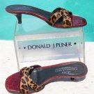 Donald Pliner $255 COUTURE CONGO HAIR CALF GATOR LEATHER Shoe NIB 6.5 SLIDE