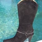 Donald Pliner $450 COUTURE SUEDE LEATHER Boot Shoe NIB 9.5 WESTERN RHINESTONE