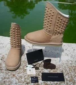 AUSTRALIA LUXE COLLECTIVE $395 SUEDE LEATHER STUDDED BOOT Shoe NIB 5 PISTOL