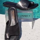 Donald Pliner COUTURE $235 METALLIC LEATHER Shoe NIB FLAT TOE RING SLIDE 5.5