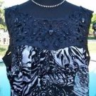 Cache $118 JEWEL EMBELLISHED NECK  PEEK-A- BOO RUCHED Top NWT M ELASTIC SHIRRED