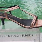 Donald Pliner COUTURE $325 METALLIC LEATHER Shoe NIB 8.5 T ANKLE STRAP SANDAL