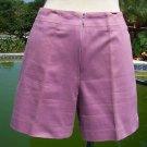 Cache $78 STRETCH Short Pant EUC XS 0/2 Cotton Lycra LAVENDER