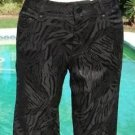 Cache $158 LUXE TEXTURED BLACK BROCADE JEAN Pant NWT 0/2 XS DRESS UP OR DOWN