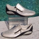 Donald Pliner $225 METALLIC SILVER LEATHER Shoe NIB ATHLETIC INSPIRED FLEX 6.5