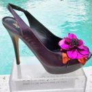 Donald Pliner COUTURE $395 METALLIC LEATHER Shoe NIB PLATFORM PEEP-TOE NEW
