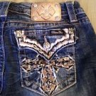 Miss Me Signature Bootcut  27  New NWT Womens Denim Jeans CROSS