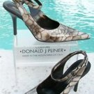 Donald Pliner $400 COUTURE TORTOISE PATENT LEATHER Shoe Pump NIB ANKLE WRAP 8