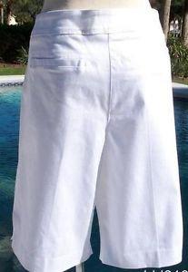 Cache Stretch $78 WALKING BERMUDA CITY Short Pant NWT 12/14/16 L/XL SELF-BELT