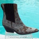 Donald Pliner $625 WESTERN COUTURE HAIR CALF GATOR LEATHER BOOT Shoe NIB 6 NEW