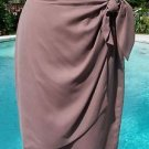 Ellen Tracy $195 Linda Allard 100% SILK SKIRT EUC SZ 4 LINED FAUX WRAP SIDE TIE