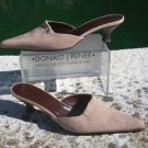 Donald Pliner $215 COUTURE STRETCH MESH ELASTIC LEATHER Shoe EUC MULE 7.5